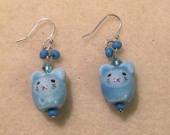 Blue Mouse Earrings