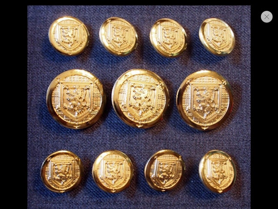 Gold Metal Blazer Buttons Set For Suit Jacket, Blazer, Or Sport Coat. High Quality by Etsy