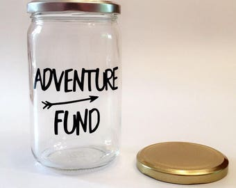 Adventure Fund - Adult Piggy Bank - Savings Jar - Money Box - Vacation Savings - Large Coin Bank - Travel Gift - Travel Fund