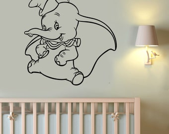 Dumbo Wall Sticker Vinyl Decal Disney Movie Art Decorations for Home Childrens Baby Room Nursery Decor dumb4