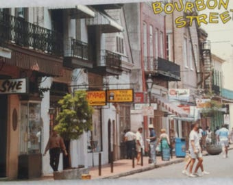 Postcard of Bourbon Street ~ New Orleans ~ Dated 1993 ~ Famous night spot the French Quarter
