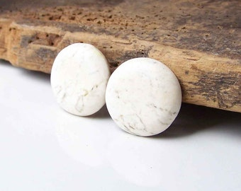 REDUCED Clip On Earrings, Clip On Dot Earrings, Round Earrings, White Marble Plastic Earirngs, Etsy, Etsy Jewelry, Marbled Plastic
