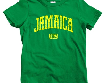 Kids Jamaica 1962 T-shirt - Baby, Toddler, and Youth Sizes - Jamaica Tee, Kingston, Montego Bay - 4 Colors
