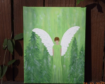 Angel of Peace handpainted on an 8x10 Canvas