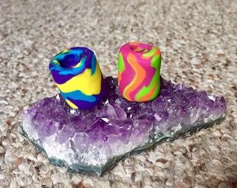 Psychedelic Swirl Bead