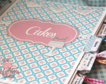 Kitchy Kitchen Cookbook DIY Print Yourself Instant Download Recipe Pages, Cover Pages, Tabs, Binder Cover and Side Pages -So Organized!
