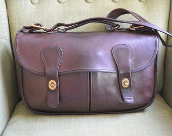 Coach NYC Musette in Mocha with Glued in Serial Number