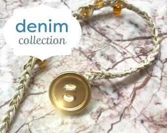 Friendship bracelet- golden tone
