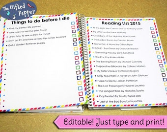 Make a list of anything! [Printable] For use with Erin Condren Planner. Stickers or planner page.