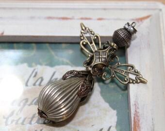 Filigree Angel Pendant Necklace