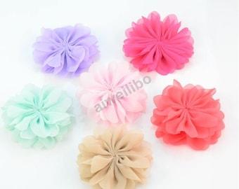 Chiffon flower, fabric flower,material flower, headband flower, DIY supplies H10030