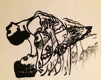 Black and White Ballet Print