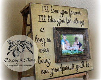 Grandparents Picture Frame, Mimi, Papa, Grandma, Grandpa, Grandmother, Grandfather, Nana, Mothers Day, Christmas Gift, 16x16