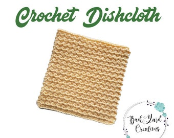 Banana Kitchen Dishcloth, Crochet Dishcloth, Washcloth, Texture Dishcloth, Ready to Ship