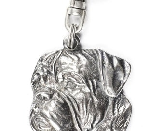 NEW, Dogue de Bordeaux, dog keyring, key holder, limited edition, ArtDog