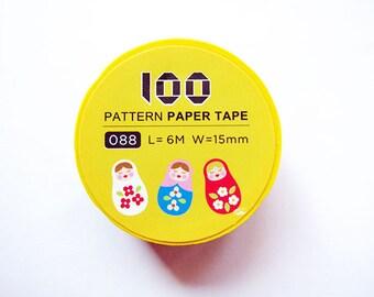 Masking Tape / Washi Tape / Deco Tape - 15mm - Russian Dolls