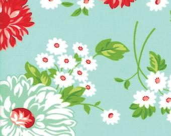 Scrumptious Aqua -THE GOOD LIFE  by Bonnie & Camille for Moda Fabrics - Floral 55150 12
