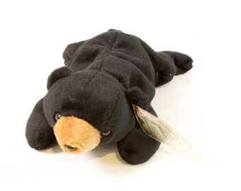 Vintage Ty Beanie Baby Blackie Bear  Plush Toy