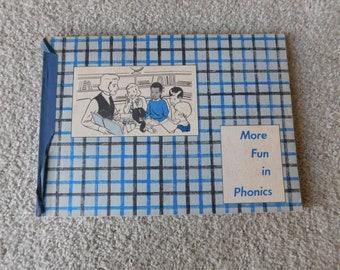 Vintage Elementary School Workbook More Fun in Phonics