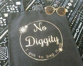Bag it up - No Diggity, tote bag, hip hop, 90's, rose gold