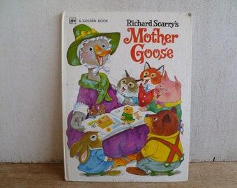 Vintage Richard Scarry's Mother Goose  Nursery Rhyme Book 1972