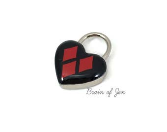 Harley Quinn Small Heart Shaped Padlock