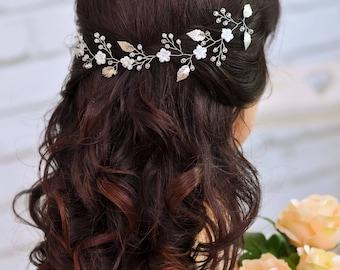 Bridal headband Wedding headpiece wedding accessories for hair  Bribal hair piece bride hair accessories Bridal hairpiece Bride headband