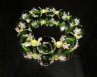 Like Unusual?  You'll love these large green glass beads!