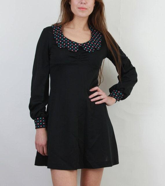 70s Little Black Cocktail Dress