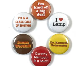 Anchorman I Love Lamp I'm Kind of a Big Deal Fan Art 6 - 1 Inch Button Set