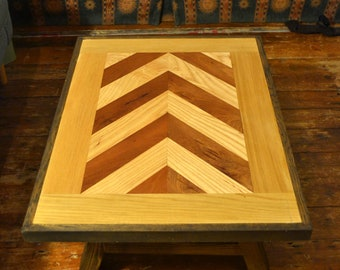 Reclaimed Oak, Ash, Sapele Coffee Table