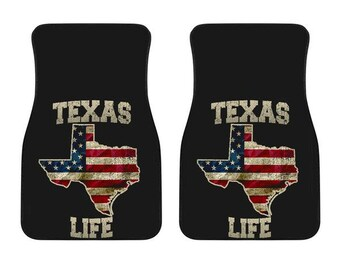 Texas/Life/American Flag/Car/Truck/SUV/Auto/RV/Floors Mats/Gifts/State Flag/Art/Home