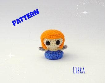 Crochet Amigurumi Libra Zodiac Doll Pattern