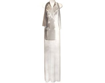 Martin Margiela Dress,  Trompe-l'œil, Halter, Rare, Collectible, Museum Piece