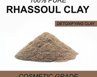Rhassoul Clay Powder, 6 oz, Detoxifying Face Mask and Body Powder, Soap Additive, Etc.