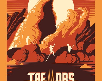 TREMORS Screen Printed Poster