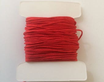 10 meters of nylon string 0.80 mm red for creations of jewels