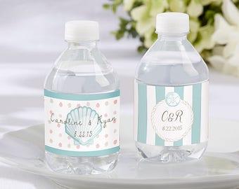 Beach Tides Theme Wedding Water Bottle Labels  (Set of 24)