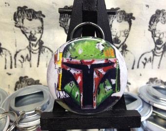 Star Wars Boba Fett original art Bottle Opener