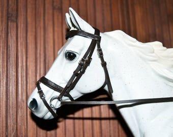 Dark Brown Snaffle Bridle, Breyer Stone Model Horse, Traditional 1:9 LSQ