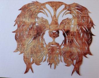 Handcut Paper Cavalier spaniel dog