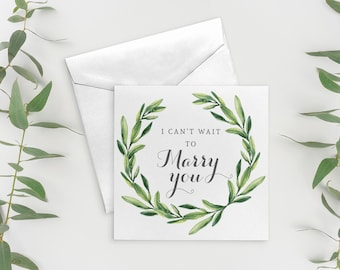 I Can't Wait to Marry You Card, Wedding Day Card, To My Bride Card, To My Groom Card, On Our Wedding Day, Bride to Groom Card Gift. WYB009