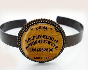 OUIJA BOARD Antiqued Brass Cuff Bracelet