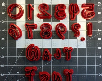 Walt Font Upper, Lower, and Number Cookie Cutter Sets