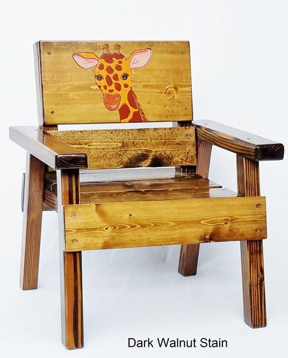 kinder holz safari stuhl kleinkind dschungel stuhl sessel. Black Bedroom Furniture Sets. Home Design Ideas