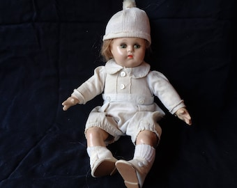 Vintage Mme Alexander Little Boy Composition Doll - 1940