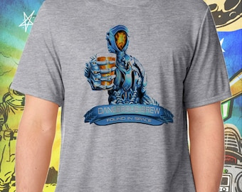 Lost in Space Reboot / Glitter Beer Robot / Found in Space / Gray Men's Performance T-Shirt