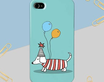 Sausage Dog Phone Case - iPhone Case - Samsung Case - Phone Cover - Dog Phone Case - Gift for Her - Phone Case for Children