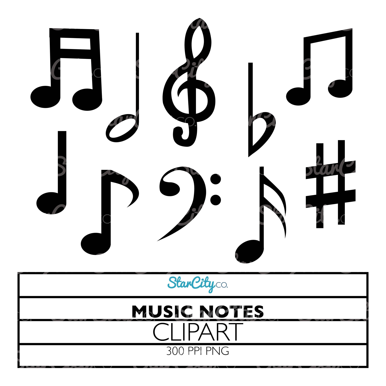Music Notes Clipart Music Clip art Symphony clipart Music