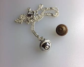 Acorn Pendant, Sterling Silver Sand Cast Acorn with a Sterling Silver Chain